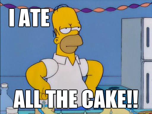 homero ate all the cake